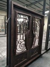 hand made custom design forged iron wrought iron doors for sale wid-4(China)