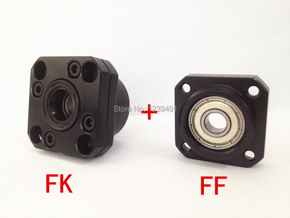 2sets ( Fixed Side FK20 + Floated Side FF20) Ball screw End Supports<br>