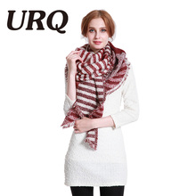 [URQ] 2017 Unique Design Woman Long Winter Scarves Swallow Wing Warm Soft Scarf Shawl Acrylic Pashimina A5A18855(China)