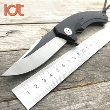 LDT 0123 Folding Knife 9Cr18Mov Blade G10 Handle Camping Survival Hunting Knives Outdoor Pocket Military Utility Knife EDC Tool(China)