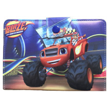 Cartoon Kids Blaze et les Monster Machines Leather Cover Case Fit For 7 inch Android Pad & Ipad Mini 1/2/3 Tablet Stands(China)