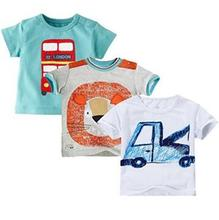 Free Shipping 2015 Brand New Summer Kids Tshirt 100%Cotton Jersey allover cat print Short Sleeves boy's girls baby T shirts