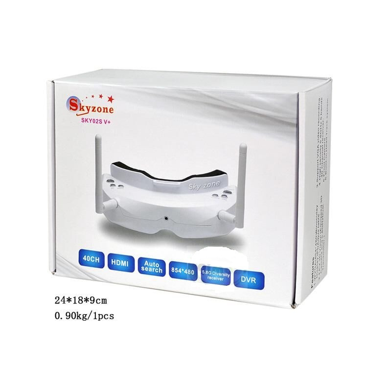 Skyzone SKY02S V+ 5.8G 48CH 3D FPV Goggles with Channel Function highlight in HDMI-IN channel auto searching HDMI IN F19136/37