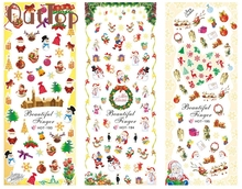 GRACEFUL1 Big Sheet Christmas Nail Art Water Decal Transfer Sticker The sticker on the nails SEPT2(China)