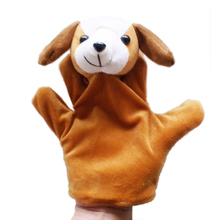 Cute Big Size Animal Glove Puppet Hand Dolls Plush Toy baby kid Zoo Farm Animal Hand Glove Sack Plush Toy wholesale(China)