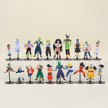 20pcs/set 10CM Dragon Ball Z pvc Action Figures toys Crazy Party Dragonball Figures opp bag(China)