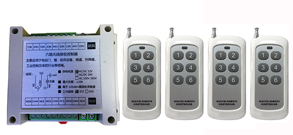DC12V 6CH 10A RF Wireless Remote Control Relay Switch Security System tubular motor garage door shutters/ lamp<br>