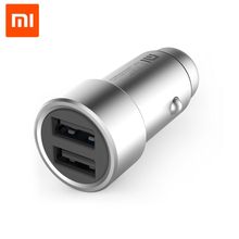 100% Original Xiaomi dual usb Car Charger Dual USB 5V/3.6A Volt Quick Charge Full Metal Compatible for Samsung for iPhone