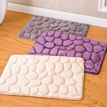 40*60 CM Coral Fleece Bathroom Memory Foam Rug Kit Toilet Pattern Bath Non-slip Mats Floor Carpet Set Mattress(China)