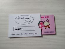OEM Printed Hotel Key card holder with paper card and clients Logo(China)