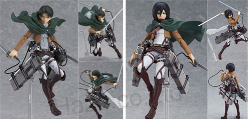 Attack on Titan Levi Ackerman Action Figure Model Collection with Box 15cm<br><br>Aliexpress