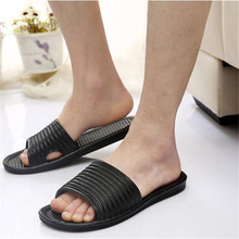 Mens Flip Flops Sandals Male Slipper Rubber Indoor Outdoor Stripe Casual Men Shoes Summer Beach Flip-Flops Sapatos sapatenis