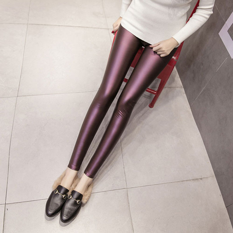 2017 Colorful Fashion Faux Leather Pants & Elegant...