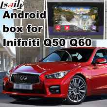 Android GPS navigation box video interface for Infiniti Q50 Q60 with cast screen