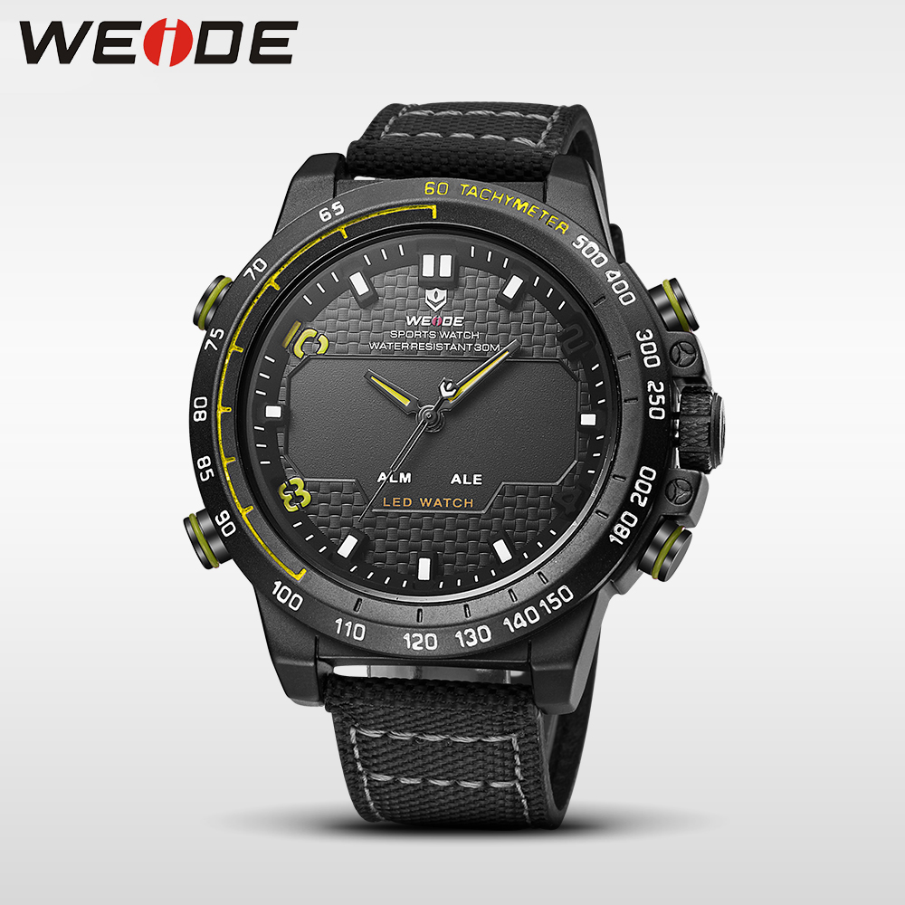 Weide dropshipping men watches 2017 luxury brand sport led digital shockproof waterproof watch black quartz watches role clock<br>