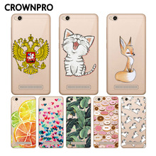 CROWNPRO Redmi 4A Case Soft TPU Silicone Case Transparent Back Cover For Xiaomi Redmi 4A Phone Cases Redmi4A Protector Case