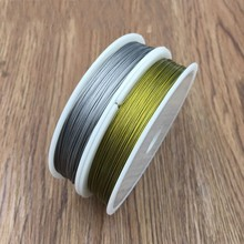 Free Shipping 1 Roll High Quality Gold Silver Tone Stainless Steel Handmade DIY Jewelry Accessories Wire 0.3mm~1mm