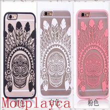 Mouplayca Case For iPhone 5 5s 6 6splus 7 7plus India's skull Bud silk pattern TPU back cover Phone case++++++++gift