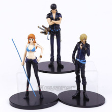 Anime One Piece Film Gold Nami Zoro Sanji PVC Figures Collectible Model Toys 3pcs/set 16cm