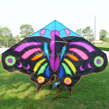 free shipping high quality 3m butterfly kite large kite with kite line children kite games ripstop nylon fabric hcxkite(China)