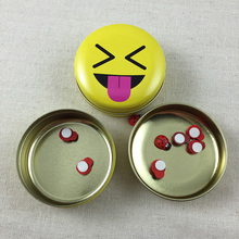 36pcs/lot Smiling Face Tin Storage Box Round Jewelry Box Portable Case Sewing Box Hot Mini Pill Case Biscuits Candy Container(China)