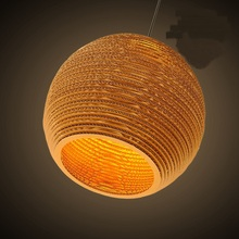 Southeast Asia Retro wicker pendant lamp Bar Hotel honeycomb naked pupa Cafe leather cardboard pendant lights ZH(China)
