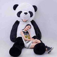 200cm Hot Sale Lovely Panda Plush Toy Large Size White And  Black Panda (WITHOUT STUFFED)