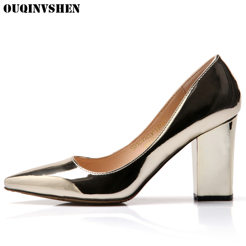 OUQINVSHEN Pointed Toe Women Pumps Casual Fashion Women Heels Pumps High Heels Single Shoes Superstar Shoes Woman Brand Shoes <br>