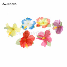 72 UNIDS Artificial Flores de Hibisco 11.5 cm de Simulación de estilo Boda Cumpleaños Party Decoration Party Hawaiian Tropical Hibiscus(China)