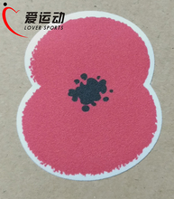 FA Premier League Poppy patch first world war MEDALS RED POPPY patch velvet/felt material free shipping