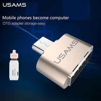 Micro USB À USB OTG USAMS Adaptateur 2.0 Convertisseur Pour Samsung Galaxy S5 Tablet Pc Microusb Souris Clavier connecter à moblie téléphone