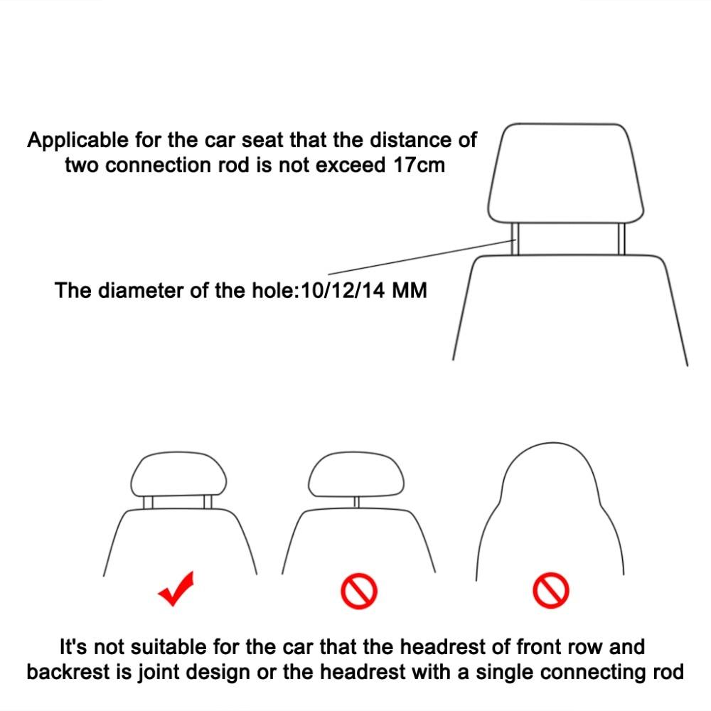 Universal Vehicle Car Safety Seat Armrest Headrest Back Hook Auto Multi-Purpose Interior Accessories (6)