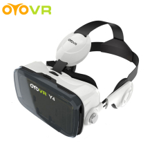 2016 OYOVR Y4 (4.0 Version) VR Box with Headphone 120 FOV Virtual Reality 3D Movie Game for 4.7-6.2 inch Phone Retail Package