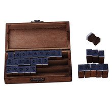 Hot Sale 30pcs/Set Letter Wood Stamp AlPhabet Stamps Wooden Box Personalized Motto Handmade Hobby Sets
