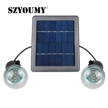 Outdoor/Indoor Solar Powered led Lighting System Light Lamp 2 Bulbs solar panel emergency light Camping light