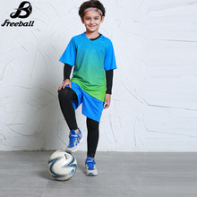 Survetement football Uniforms 2016 2017 kids Child Soccer jersey Set Training football tracksuit Suit Breathable Short Sleeve(China)
