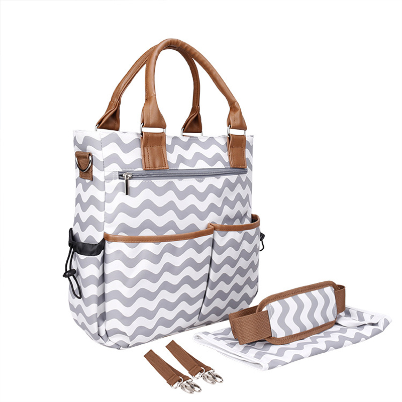 Multi-function Baby Diaper Bag Backpack for Moms, W/ Stroller Straps-Changing Pad Included, Waterproof Fabric for Maternity<br>