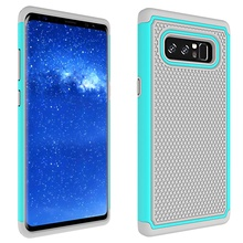 Dulcii For Samsung Galaxy Note 8 Case Football Grain PC + Silicone Hybrid Cover Casing for Samsung Galaxy Note 8 - 6.3 inch