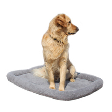 Large Dog Beds Gray Warm Soft Blanket For Small Medium Pet Cat Sleeping Mat Mattress Cushion 100*72cm/84*64cm/72*50cm/58*40cm(China)