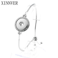 Buy Hot Sale Xinnver Snap Button Jewelry Rhinestone Adjustable Snap Bracelet 18mm Metal Snap Button Charm Bracelets Women for $1.78 in AliExpress store