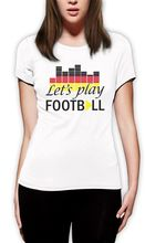 Play Footballer Club Women T-Shirt World Cup 2015 Deutschland Soccerer Germany Flag Fashion Brand Hipster Slim Top