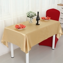 Heavy Double Satin Gold Rectangle Round Square Hotel Tablecloths Is Round Wedding Banquet Tablecloth Round Tablecloths(China)