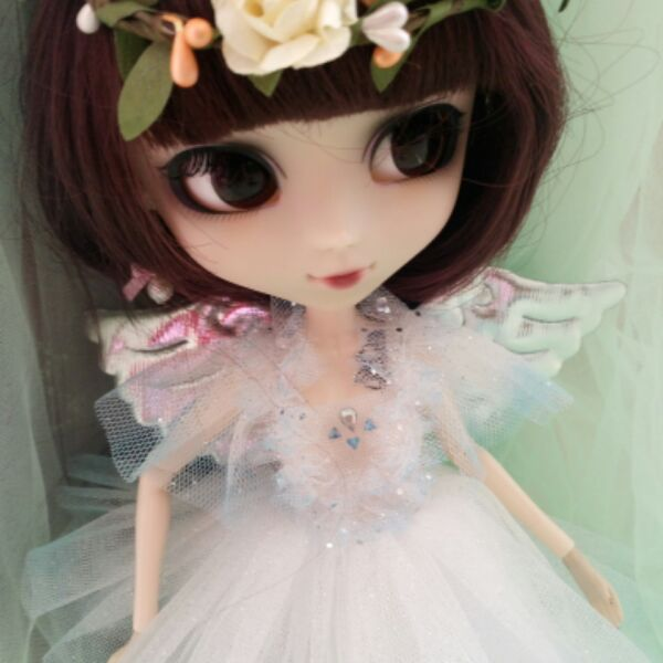 Free shipping Handmade 3pcs/setgarland + angel wings Doll Clothes for Blythe licca momoko Azone Doll accessories Toys Gift<br>