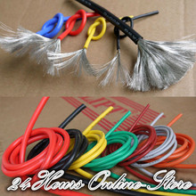 24 AWG Flexible Silicone Wire RC Cable 24AWG 40/0.08TS Outer Diameter 1.5mm With 10 Colors to Select