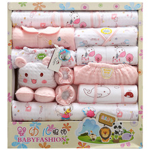 Fashion baby Set 2017 Spring Autumn design Clothes Baby Boys and girl cotton cartoon print 18Pcs/lot Warm baby Set TZ-003(China)