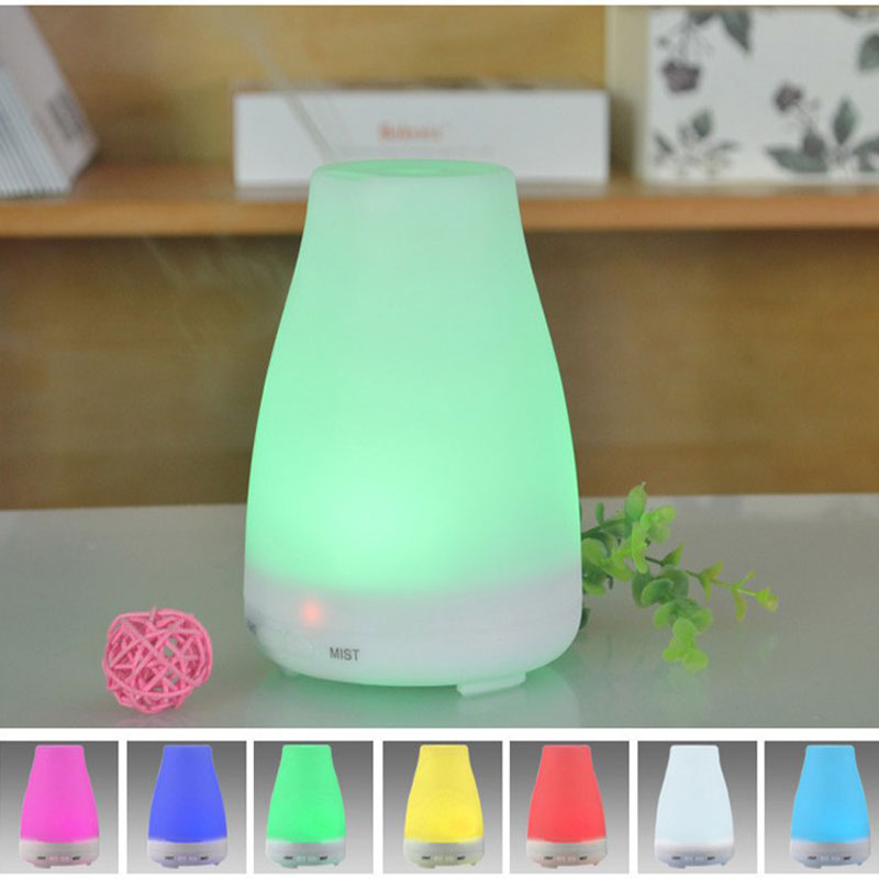 NEW Ultrasonic Humidifier LED Light 7 Color Change Dry Protect Ultrasonic Essential Oil Aroma Diffuser Air Humidifier Mist Maker<br>