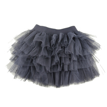 Winniefashions Factory!new 2014 Black Color Cotton Tulle Skirt Baby Girl Skirts Toddler Kids Skirts 3-12years Free Shipping(China)