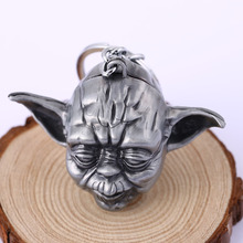 HSIC JEWELRY NEW HOT Wise Old Man  Yoda Keychain Pendant Key Ring Car Keychain Jewelry Game Key Holder Souvenir HC11284