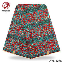 Real comfortable  wax fabric 100% cotton ankara material spandex african wax printed cotton fabric for women garment AYL/TNH