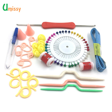 Home DIY Knitting Tools Set Crochet Latch Curve Needle Mark Hand Crochet Knitting Needles Weave Accessories 10 Kinds/set